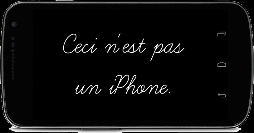Ceci n'est pas un iPhone